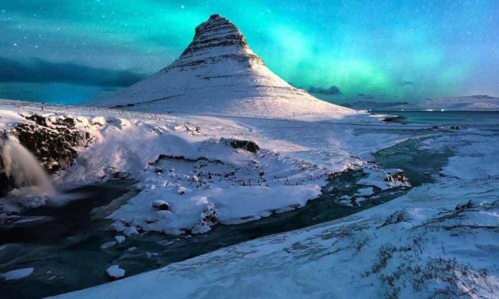 Northern Lights Of Iceland Including The Blue Lagoon