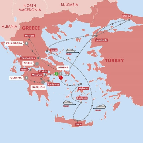 Best of Greece with 7-Day Eclectic Aegean Cruise Premium