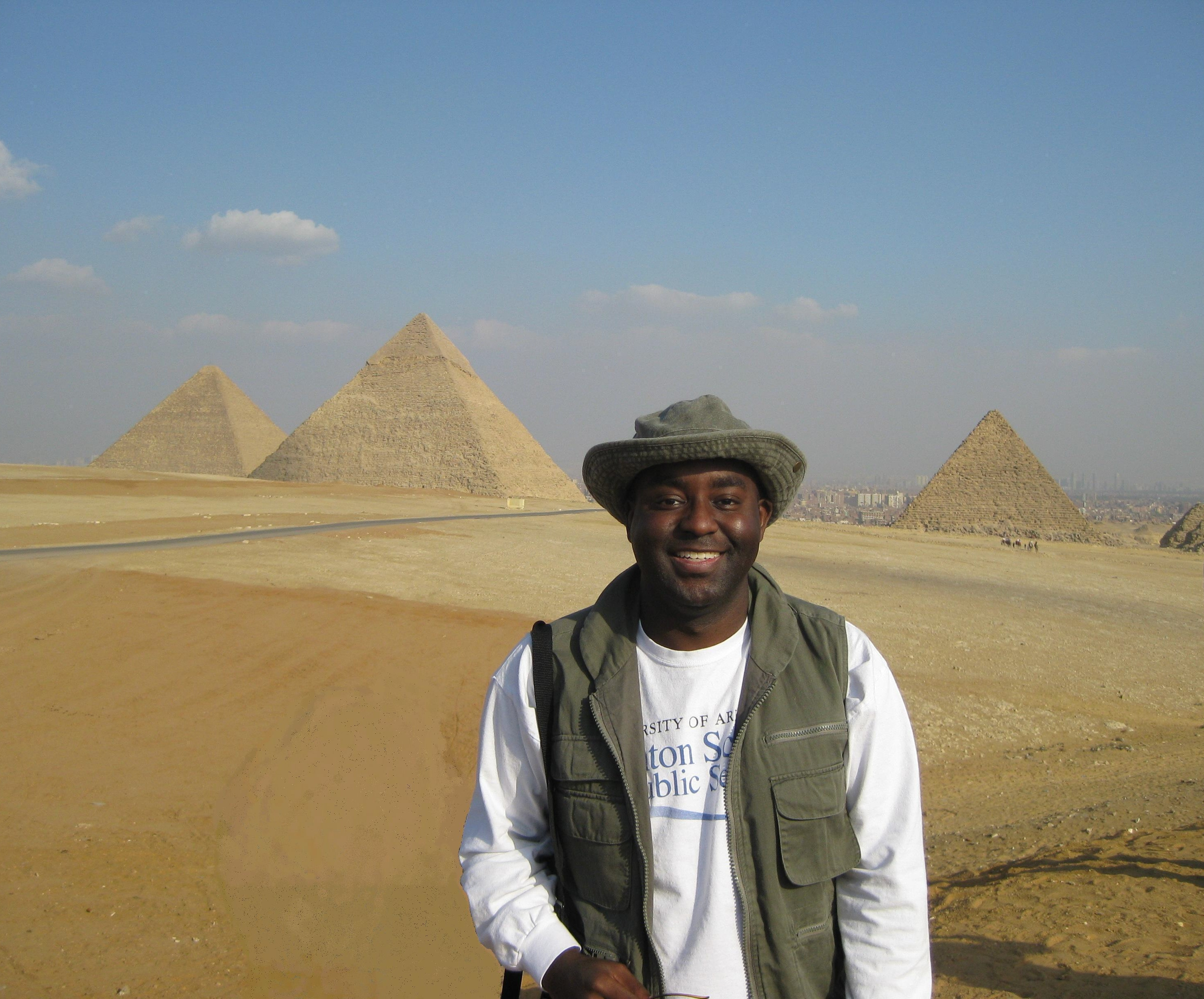 In front of the incredible Pyramids