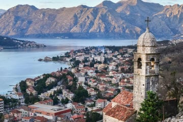 the view over kotor montenegro the old church