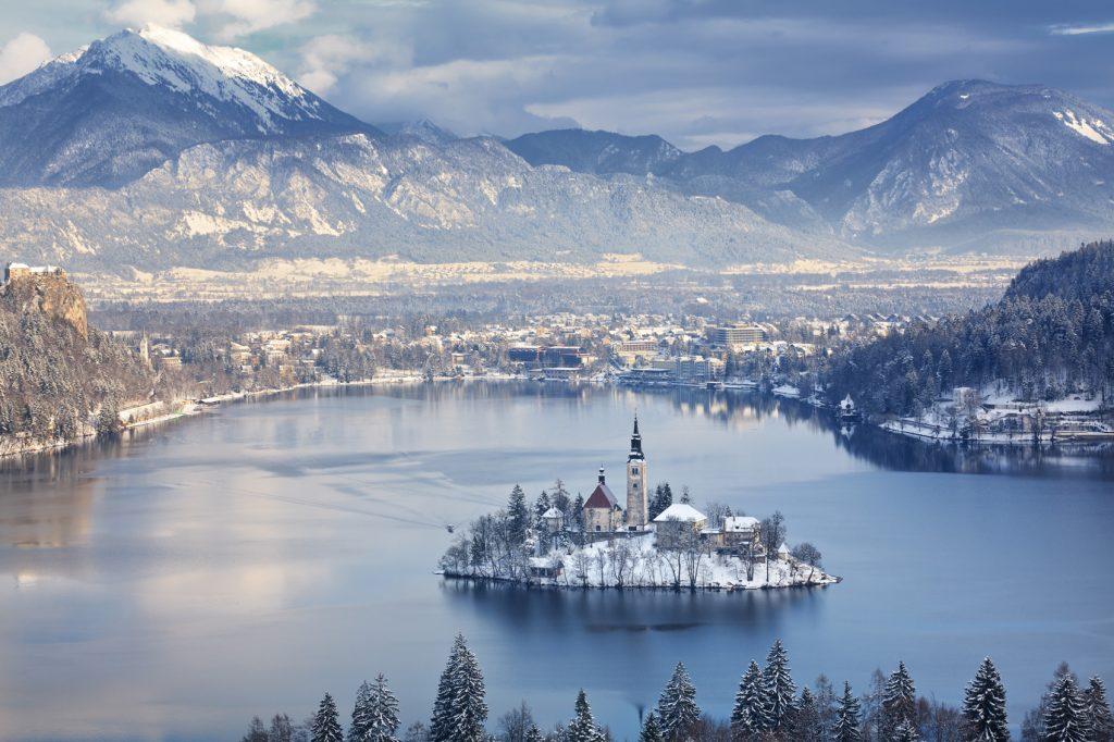Lake Bled at winter