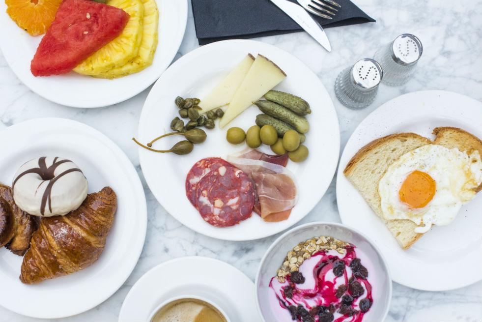 Continental breakfast in Europe