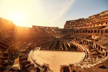 Rome landmark Coliseum-Rome-Sunset-www.istockphoto.com_gb_photo_colliseum-in-the-sunset-gm514717620-88223311-stock_colors