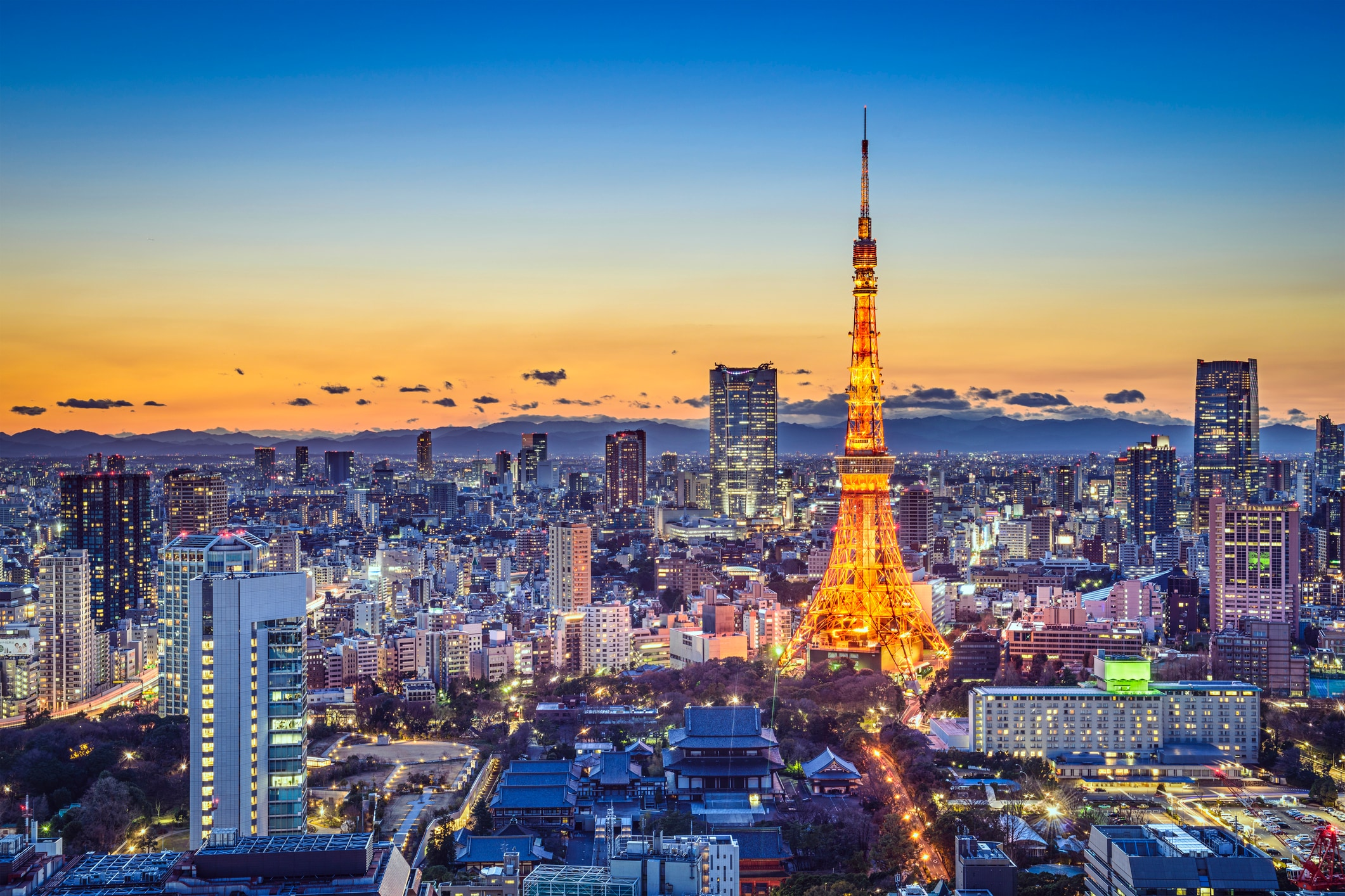 Beautiful Japanese landscapes Tokyo Japan City Skyline