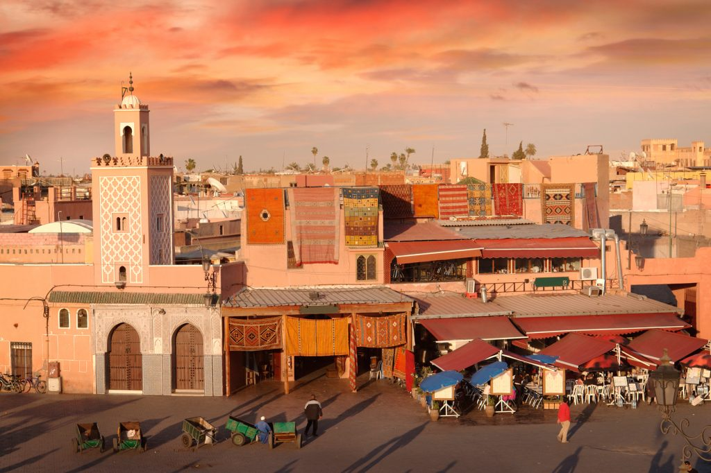 beautiful places to propose Djemaa-el-Fna-Square-Marrakesh-www.istockphoto.com_gb_photo_djemaa-el-fna-square-in-marrakesh-gm174811653-22817777-narvikk