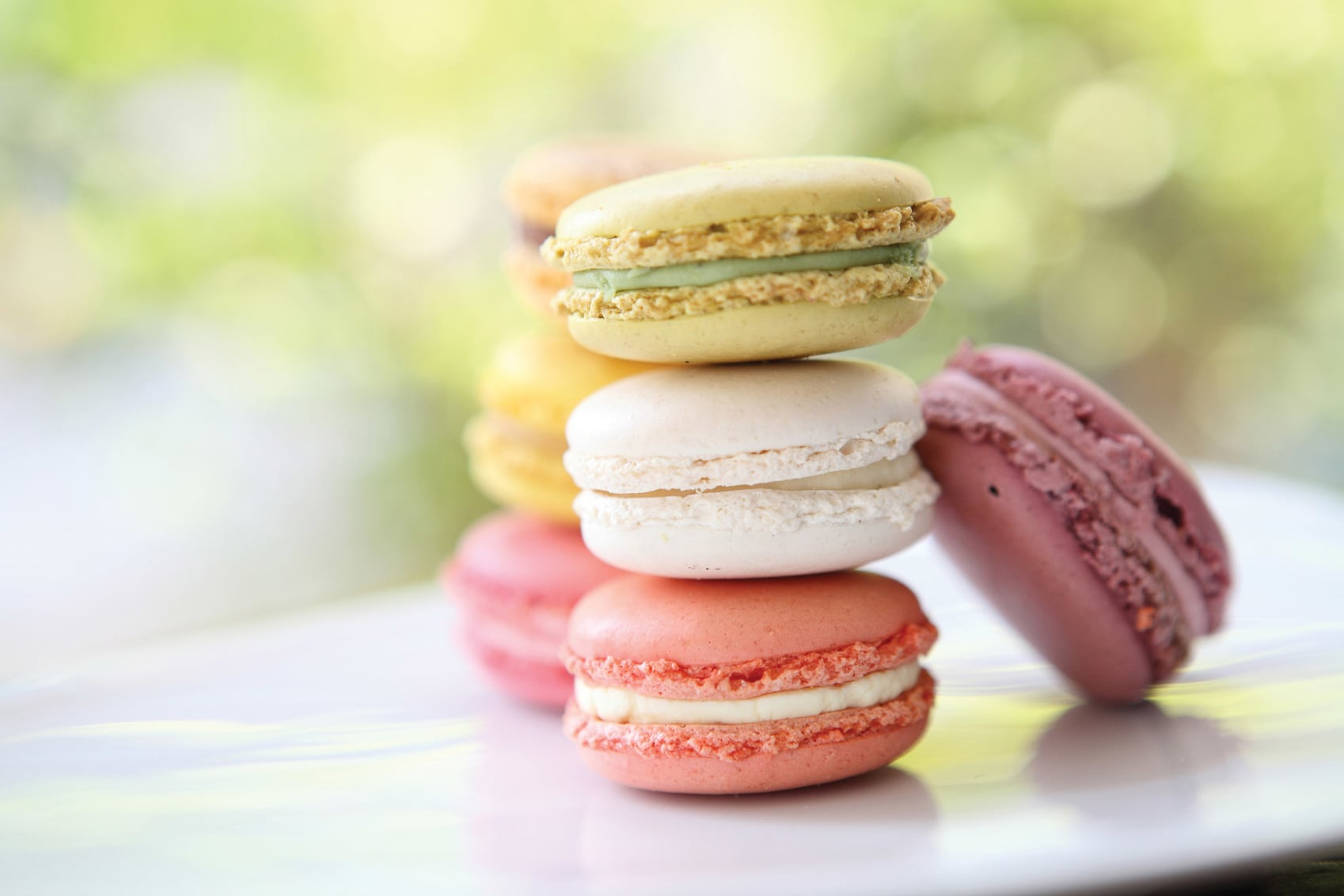 Different coloured Macarons