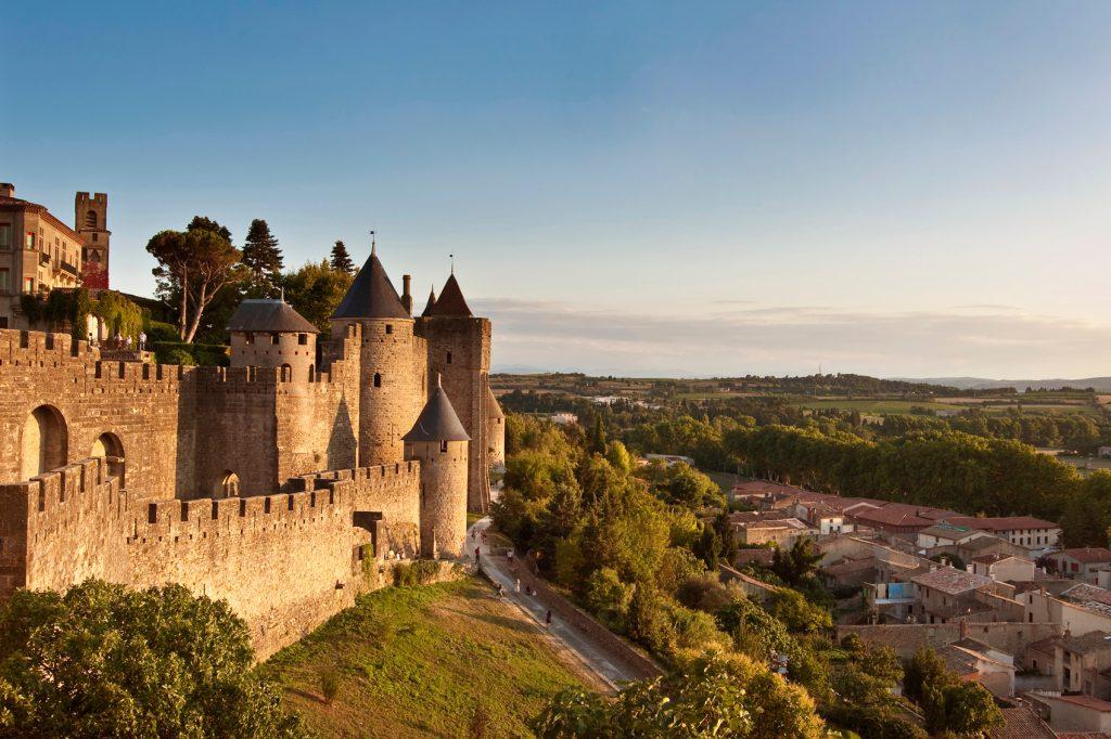 Beautiful Castles in France RS10056_France-Carcassone-DoubleRingOfRamparts-520791969-lpr © Delpixart