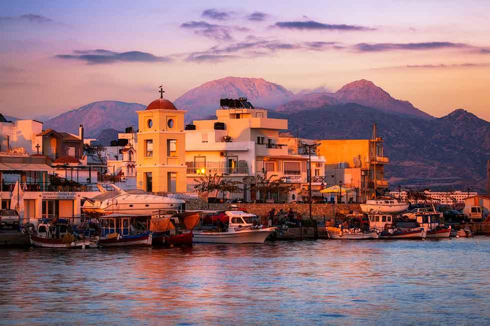 crete sunset greek islands