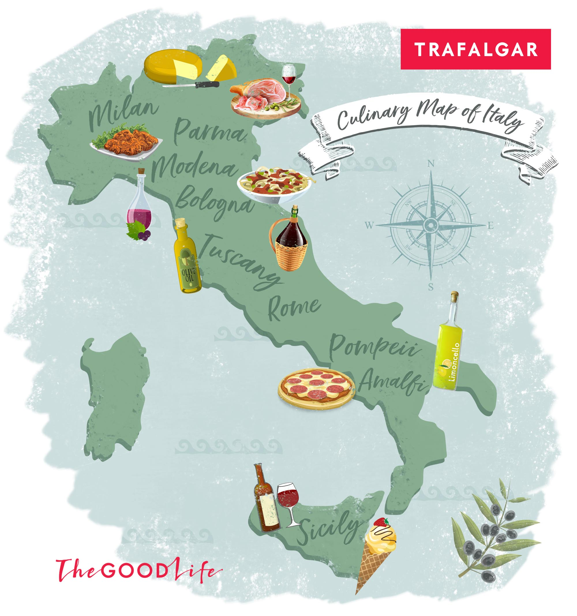 food map of italy