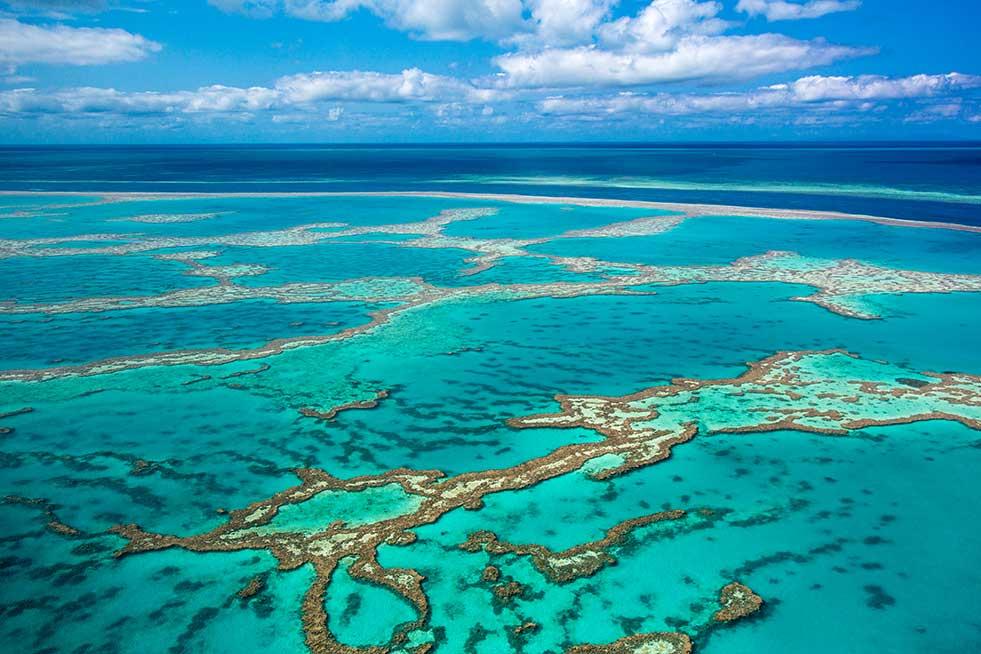 great barrier reef queensland aerial view