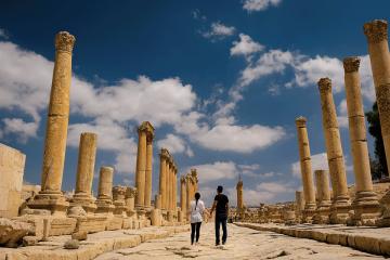 Soul Travel Jordan couple ruins