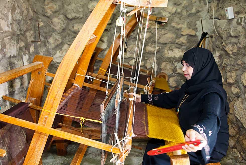 woman weaving in Jordan