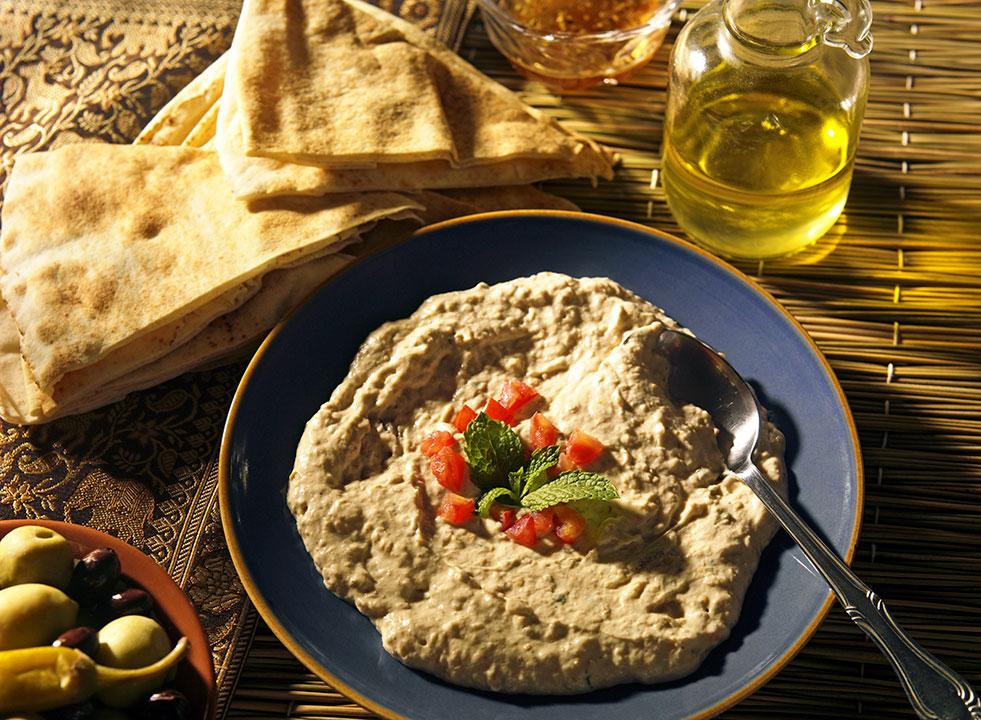 moutabel jordan middle eastern food