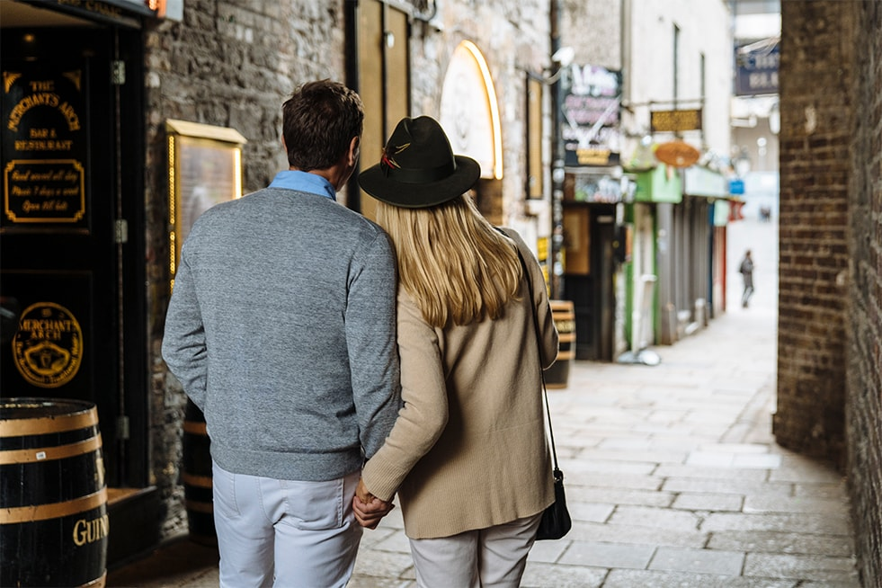 Couple on a street in Dublin