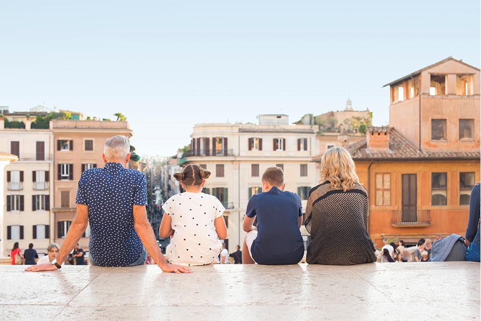 A family travelling Italy with Trafalgar