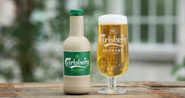 Carlsberg first paper beer bottle
