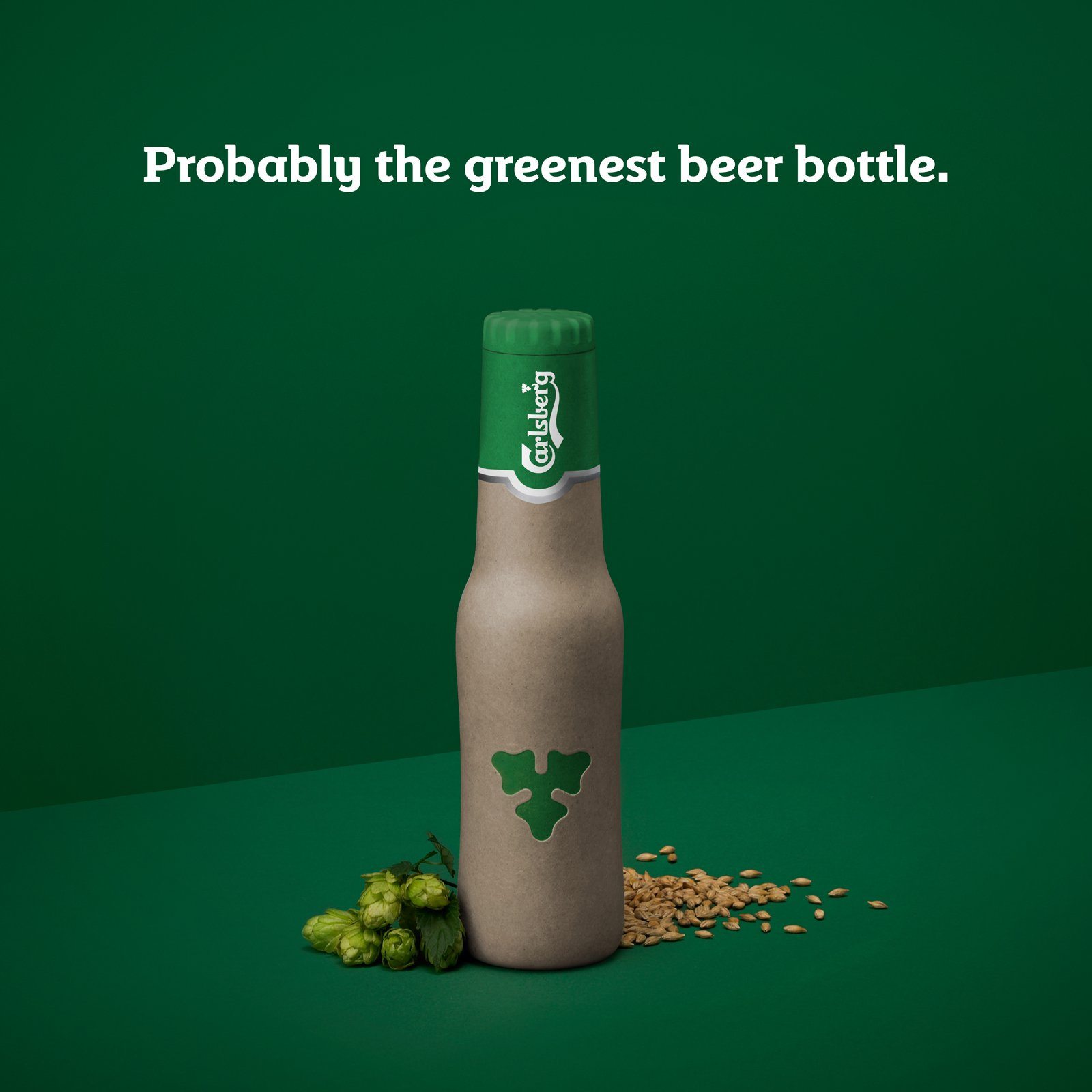Carlsberg first fully recyclable beer bottle