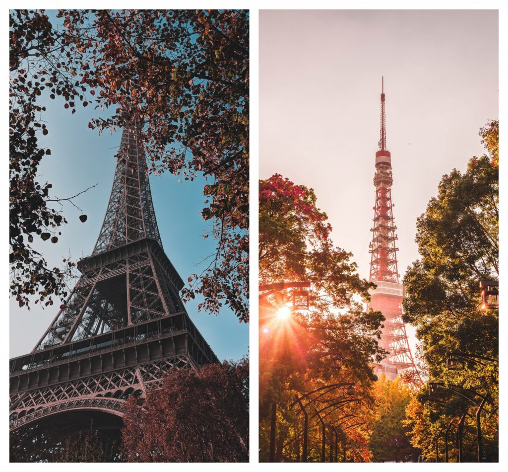 Eiffel Tower and Tokyo Tower