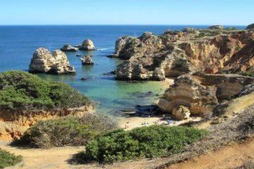 rocky beach bay Lagos Portugal