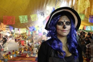 girl at day of the dead celebration