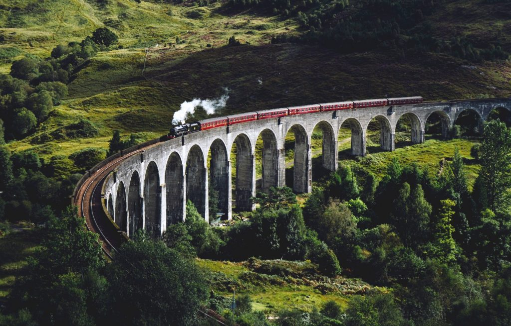 glenfinnan-viaduct-in-scotland-uk-on-a trip to europe