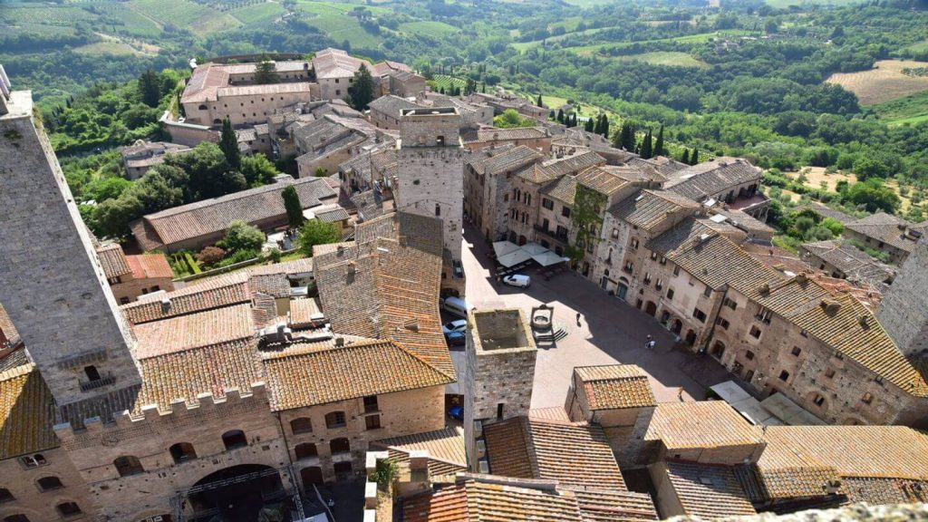 town green hills Volterra Italy
