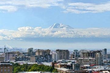 Mount Ararat and Yerevan, Armenia
