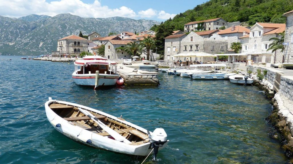 boats bay of kotor montenegro