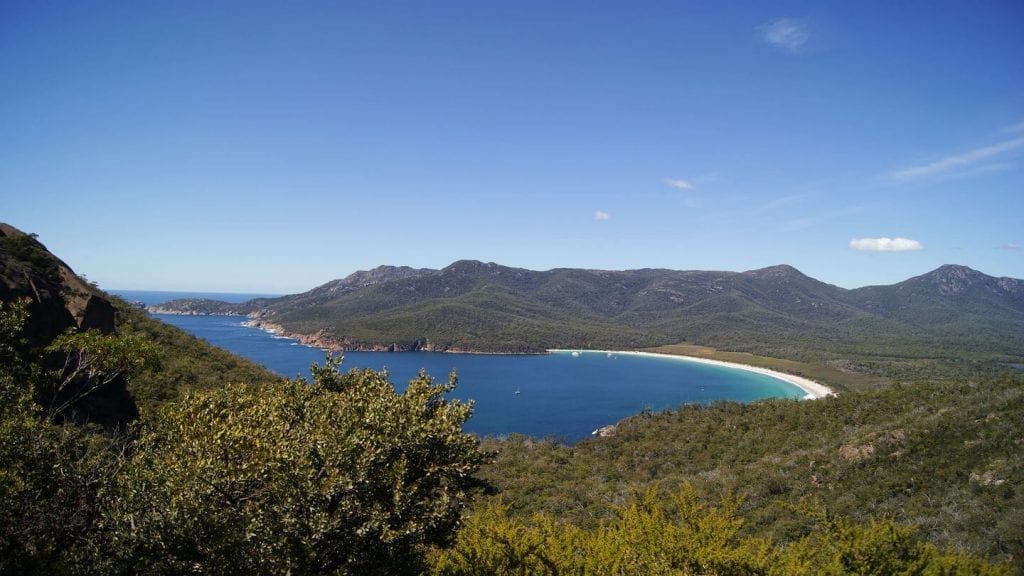 mountains beach Wineglass Bay Tasmania