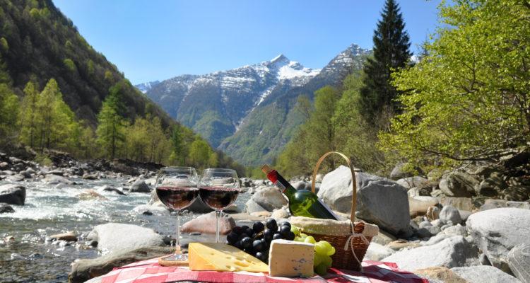 Picnic in Switzerland.