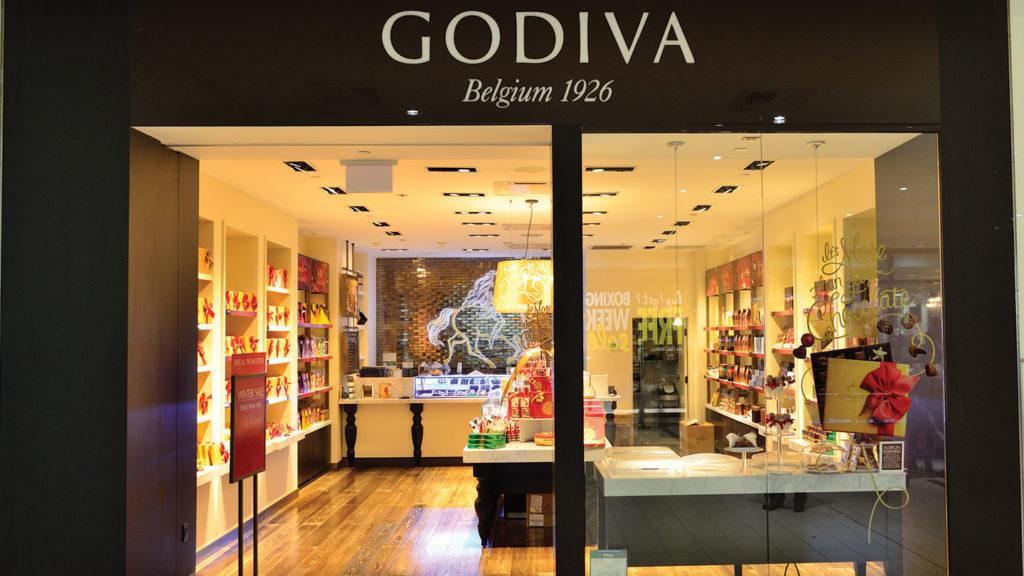 Godiva shop front