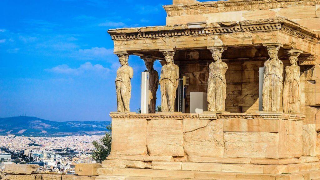 Erechtheion temple sculpted Caryatids Athens Greece