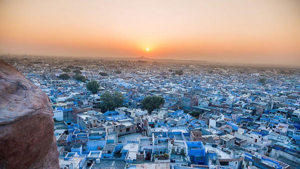 blue buildings jodhpur india