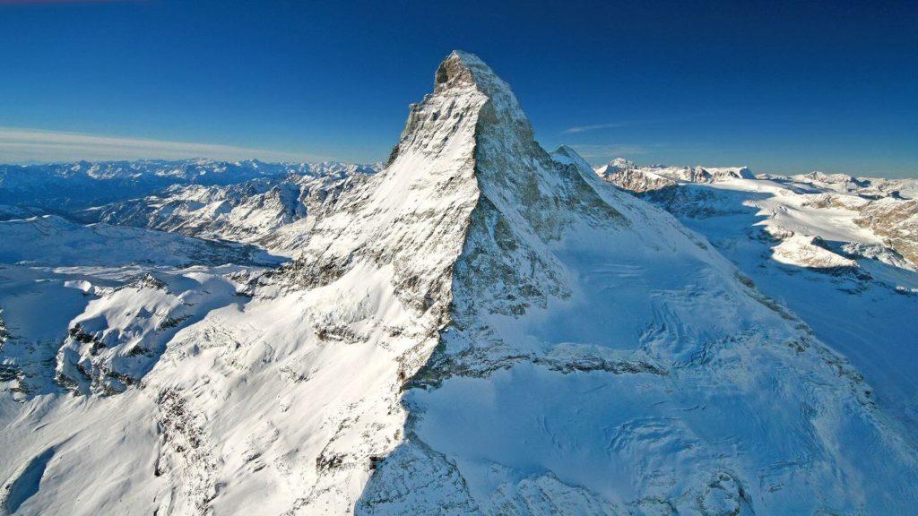 snowy matterhorn swiss alps switzerland