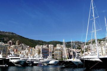 Monaco Harbour and luxury yachts
