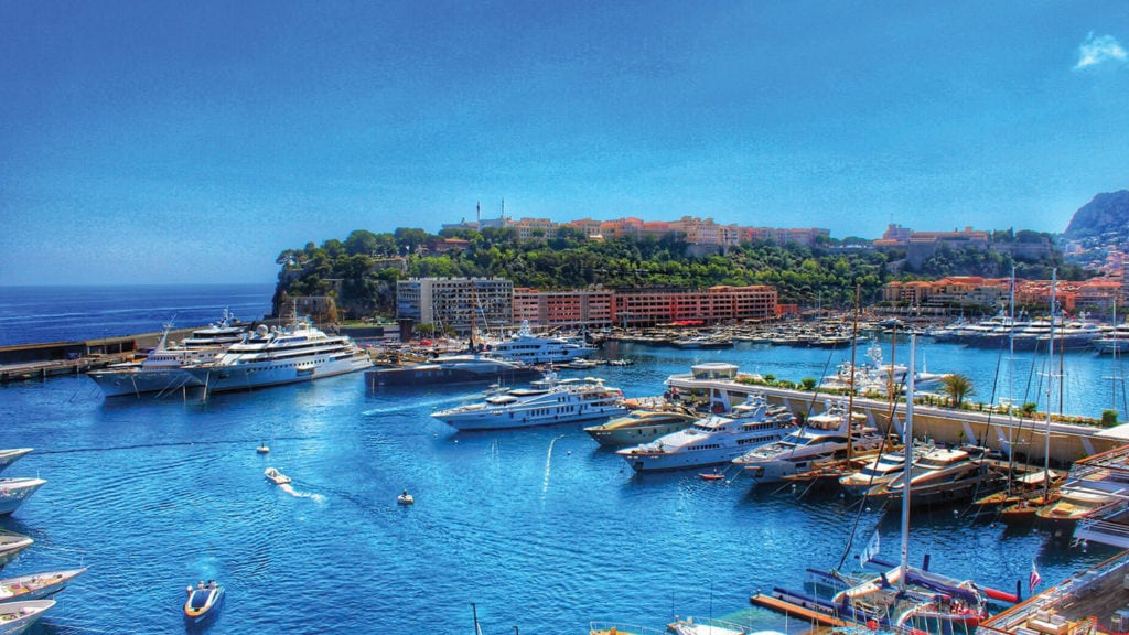 Monaco Marina with yachts - Billionnaires' Playground