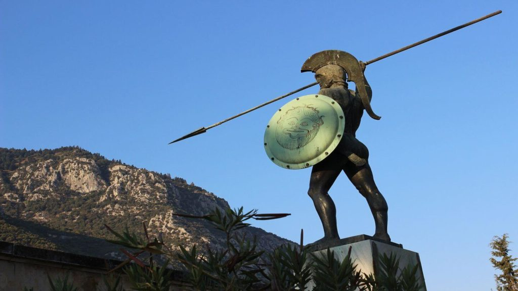 memorial of Leonidas and the Spartans.