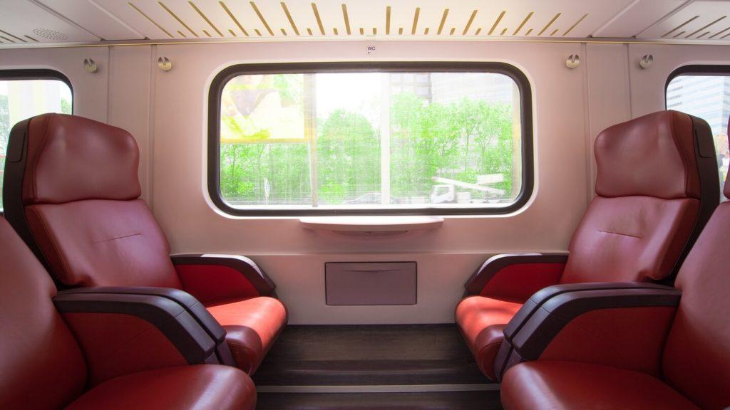 comfortable train seats train travel