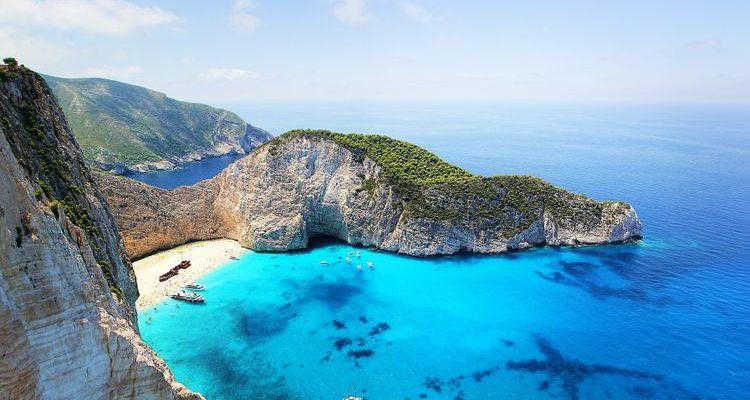 classic blue water zakynthos greece