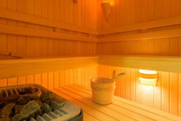 Inside of a sauna