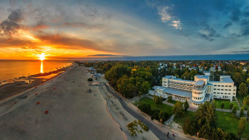 Pärnu beach aerial view