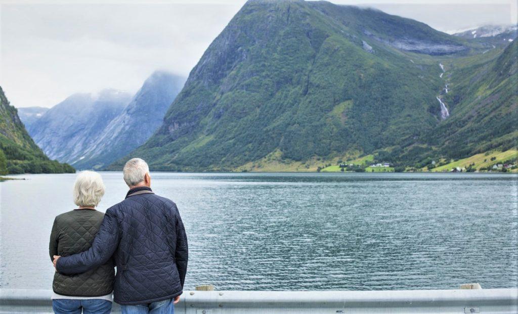 Elderly couple living longer in Norway