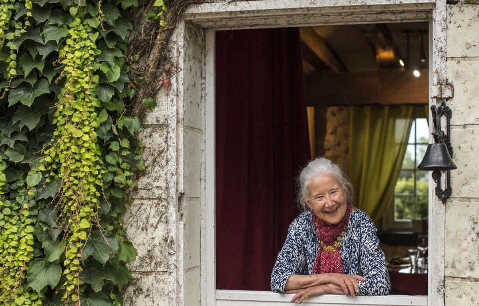 Elderly woman in France where people life expectancies are long