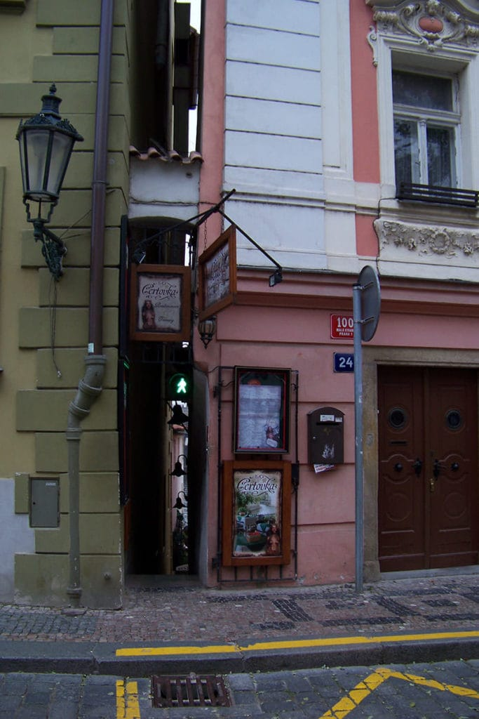 Street scene from Prague - interesting Prague facts