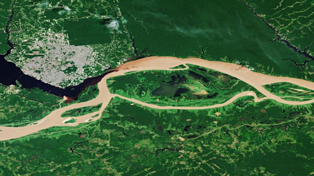 amazon river seen from space