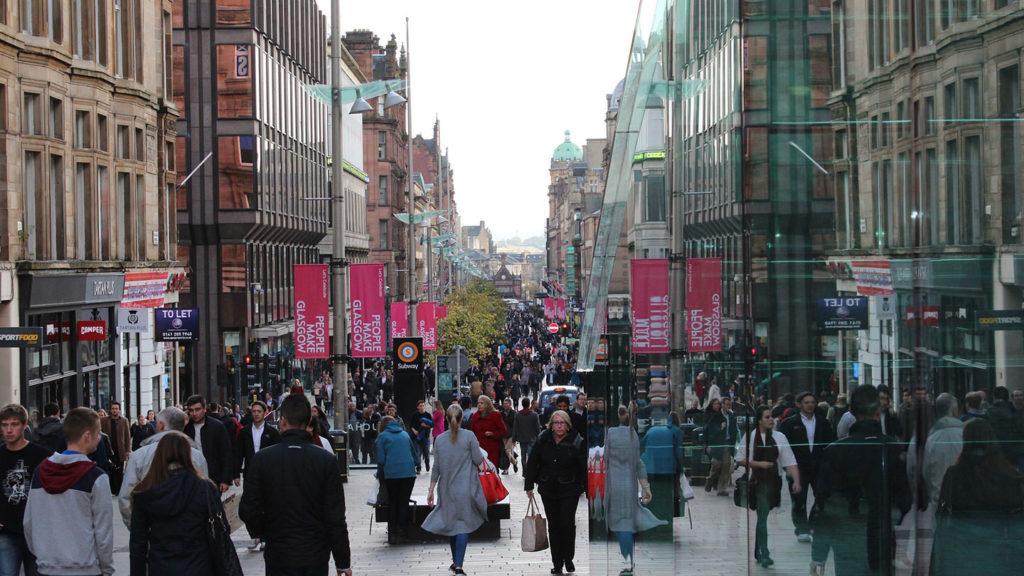 Glasgow city scene - Scottish phrases