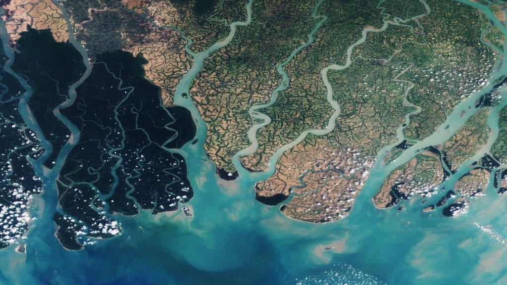 Ganges River Delta from space