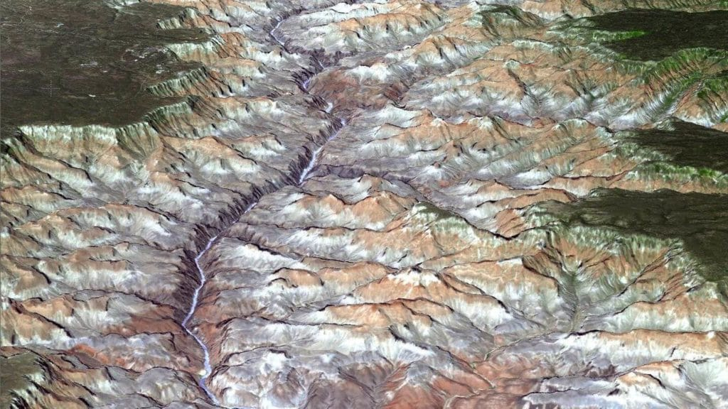 Grand Canyon National Park seen from space