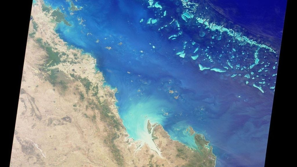great barrier reef australia from space
