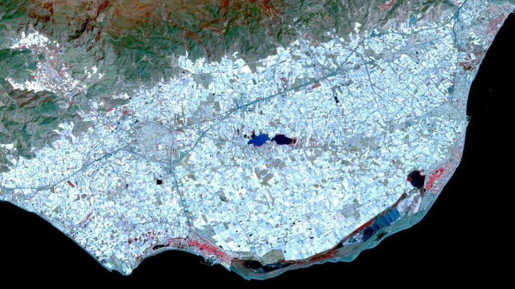 Greenhouses of Almería Spain space view
